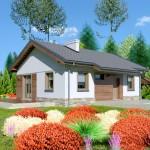 บ้านร่วมสมัย 3 ห้องนอน ตกแต่งด้วยไม้ และดีไซน์หลังคาจั่ว เหมาะกับครอบครัวคนไทย