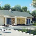 บ้านร่วมสมัย 3 ห้องนอน 1 ห้องน้ำ สวยงามทั้งรูปทรงและวัสดุ