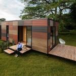 บ้านสวนสตูดิโอ ออกแบบทันสมัยด้วยรูปทรงกล่อง ผสมวัสดุจากธรรมชาติ