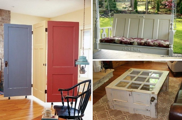 10 ideas of how to reuse old doors cover