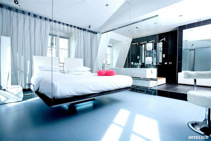 12 hanging and floating bed ideas (5)