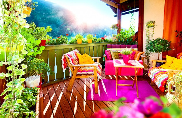 15 mini porch garden ideas for apartment (2)