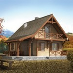 บ้านไม้สไตล์ชนบท ออกแบบทรงคอทเทจสองชั้น ในโทนสีธรรมชาติที่แสนอบอุ่น