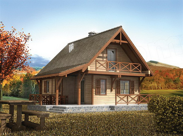2 storey earth tone wooden cottage (1)