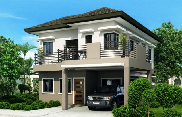 2 storey hip monotone modern house (3)