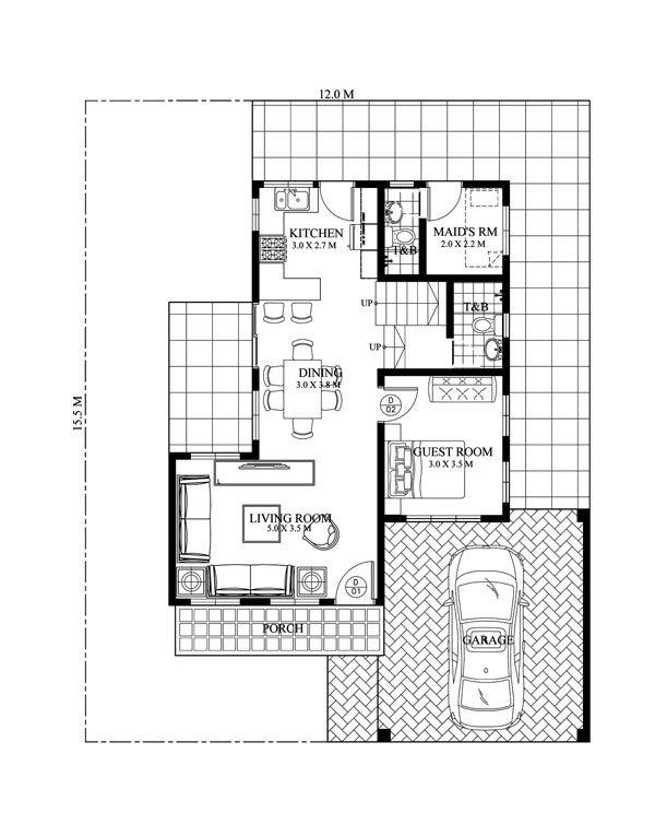 2 storey hip monotone modern house (4)