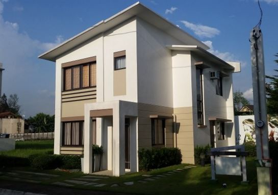 2 storey white shed roof modern house (1)