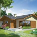 บ้านร่วมสมัยหลังคาจั่ว 3 ห้องนอน 2 ห้องน้ำ ตกแต่งด้วยไม้ ตามรสนิยมของคนไทย
