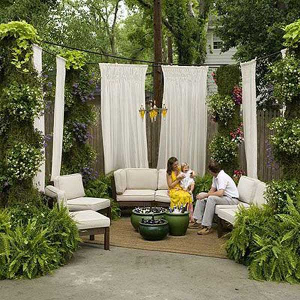 21 privacy screen in backyard garden ideas (11)