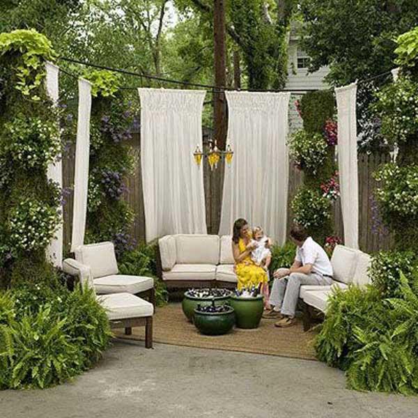 21 privacy screen in backyard garden ideas (11)