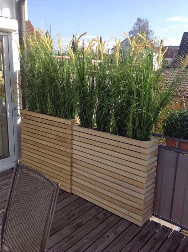 21 privacy screen in backyard garden ideas (2)