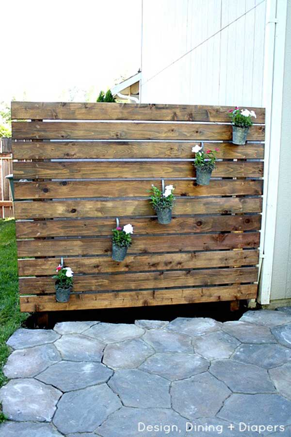 21 privacy screen in backyard garden ideas (21)