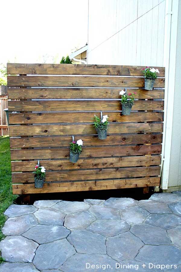 21 privacy screen in backyard garden ideas (21)