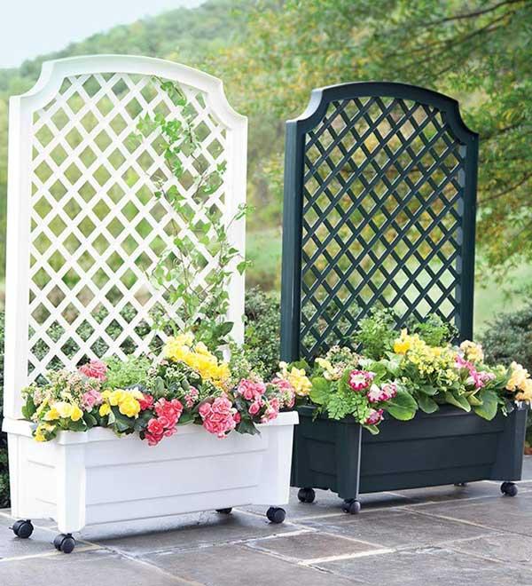 21 privacy screen in backyard garden ideas (4)