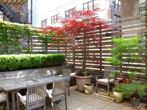 21 privacy screen in backyard garden ideas (8)