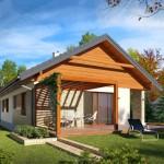 บ้านชั้นเดี่ยว ตกแต่งแบบร่วมสมัย วัสดุจากคอนกรีต ไม้ และอิฐโชว์แนว