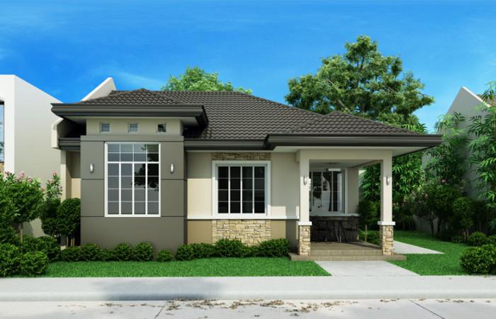 3 bedroom monotone hip roof house (1)