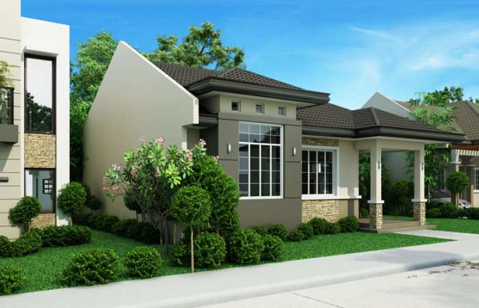 3 bedroom monotone hip roof house (2)