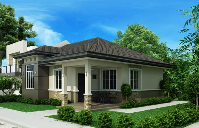 3 bedroom monotone hip roof house (3)