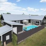 บ้านคอทเทจร่วมสมัย มาพร้อมสระว่ายน้ำขนาดเล็ก โดยใจครอบครัวขนาดใหญ่