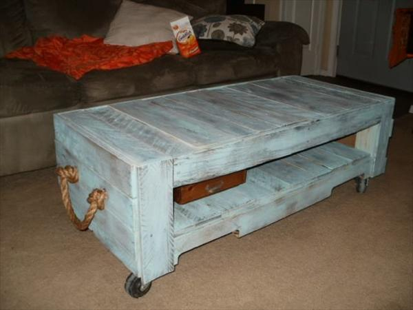 50 diy pallet table ideas (23)