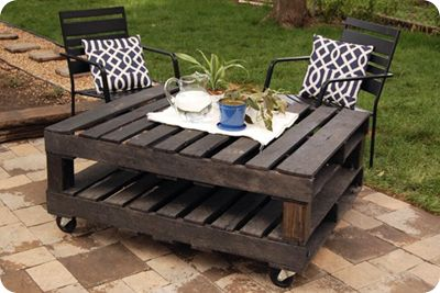 50 diy pallet table ideas (27)