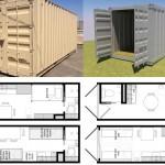 10 ไอเดียแปลนบ้านขนาดเล็ก ดัดแปลงจากตู้คอนเทนเนอร์ เรียบง่ายและใช้งานได้จริงบนพื้นที่จำกัด