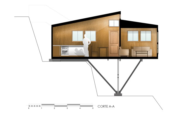 Suarez-House-Arq2g-arquitectura-Chile-Cross-section-Humble-Homes