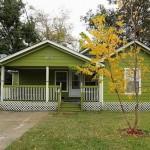 บ้านสไตล์วินเทจสีเขียว ออกแบบดีไซน์น่ารัก สวยเด่นสะดุดตา