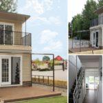 บ้านโมเดิร์นสองชั้นไซส์เล็ก ออกแบบเรียบง่าย ประยุกต์จากตู้คอนเทนเนอร์