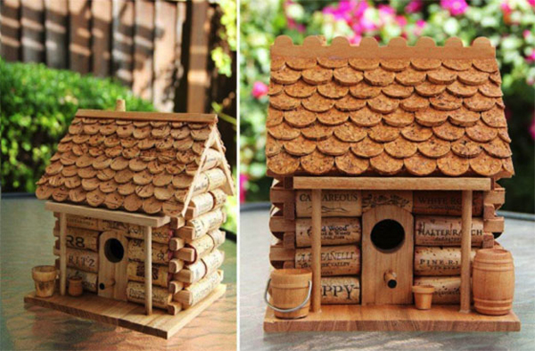 diy-wine-cork-birdhouse-for-garden