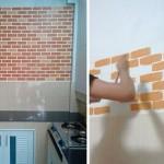 Review : เพิ่มสีสันให้ผนังบ้านด้วย Faux Brick ผนังอิฐปลอมแบบทำเอง!!