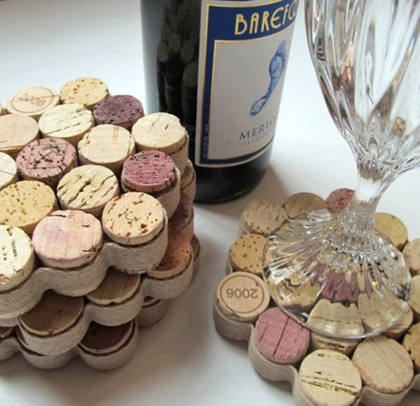 honey-comb-wine-cork-drink-coasters