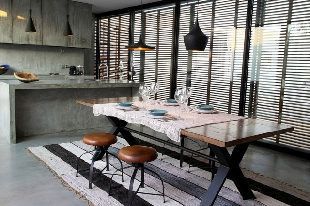 industrial-styled-kitchen-with-cool-pendant-lights
