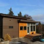 บ้านขนาดกะทัดรัด ตกแต่งสไตล์โมเดิร์น วัสดุจากไม้