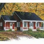 แบบบ้านไม้สไตล์คันทรี มาในโทนสีแดง บรรยากาศดีเข้ากับธรรมชาติ