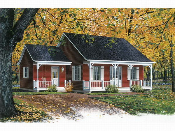 red wooden country house (1)