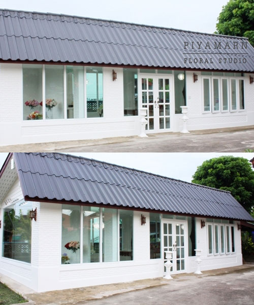renovate old garage into white florist review (12)