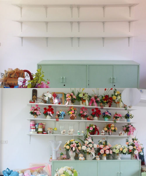 renovate old garage into white florist review (16)