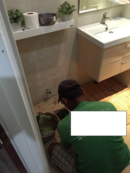 restroom floor tile renovation (14)