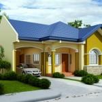 แบบบ้านชั้นเดียวขนาดเล็ก ดีไซน์สวยโทนสีเด่น ออกแบบสำหรับครอบเริ่มต้น