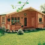 แบบบ้านไม้สไตล์คอทเทจ  ออกแบบขนาดกะทัดรัด ในงบประมาณไม่เกินล้าน