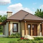 แบบบ้านทรงปั้นหยาหลังเล็ก แต่งด้วยไม้และหิน สวยเรียบและได้ใจ