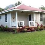 บ้านรีสอร์ทขนาดเล็ก สัมผัสบรรยากาศสวนสวย บนระเบียงหน้าบ้านสุดชิล