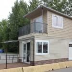 บ้านโมเดิร์นขนาดเล็ก ออกแบบเรียบง่าย ประยุกต์จากตู้คอนเทนเนอร์