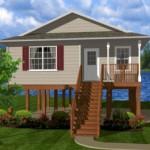 บ้านไม้ยกพื้นสูง 2 ห้องนอน ตกแต่งเรียบง่าย ในสไตล์บ้านสวน