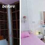 Review : รีโนเวทห้องนอนไม้เก่าๆ ให้เป็นห้องนอนสีขาวสไตล์เจ้าหญิง