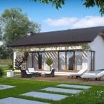 บ้านขนาดกะทัดรัด ตกแต่งแบบร่วมสมัย เย็นสบายด้วยธรรมชาติรอบบ้าน