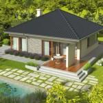 บ้านเดี่ยวร่วมสมัย ขนาดเล็กกะทัดรัด ความสุขที่รายล้อมด้วยธรรมชาติ