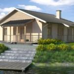 บ้านร่วมสมัย ตกแต่งเรียบง่ายด้วยหิน สวยงามบนความร่มรื่นริมแม่น้ำ